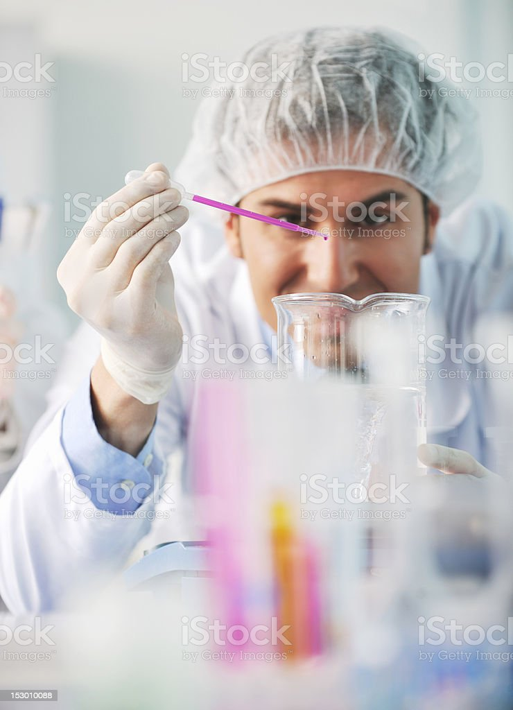 scientist in labaratory royalty-free stock photo