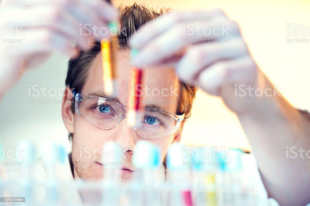 Scientist in laboratory stock photo