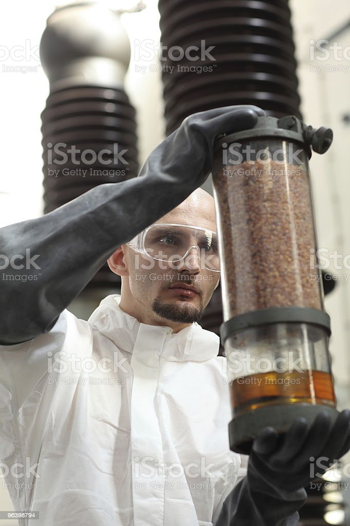scientist performing an experiment royalty-free stock photo