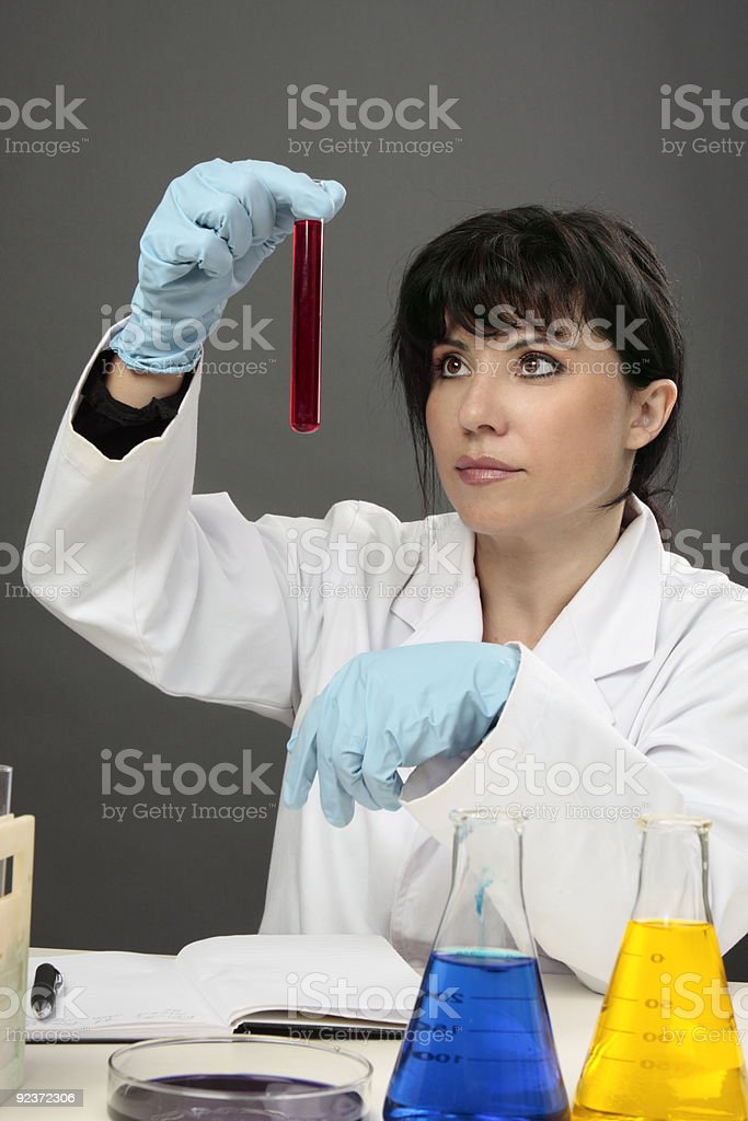 Scientist research experiment royalty-free stock photo