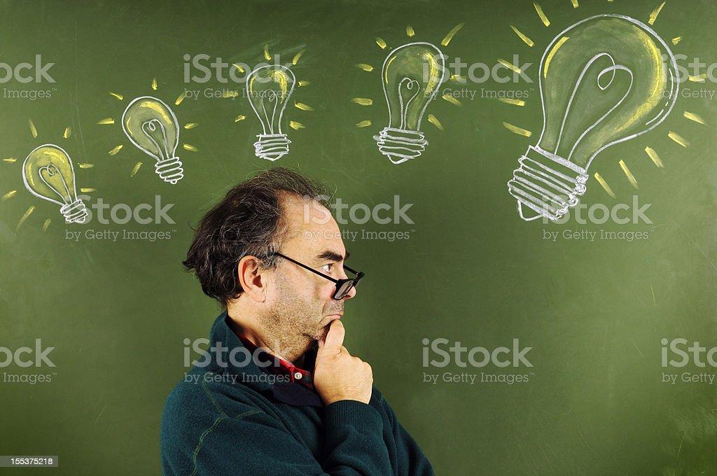 Scientist Thinking Idea royalty-free stock photo