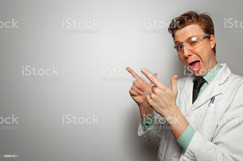 Scientist with Copy Space – Paper Graphics series stock photo