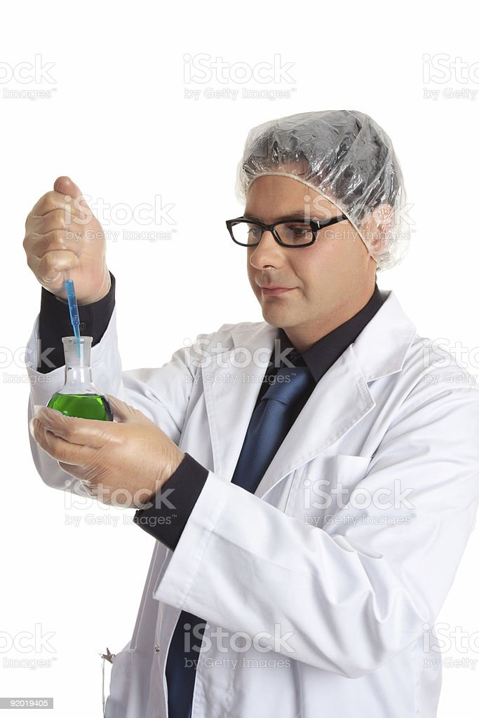 Scientist with laboratory sample royalty-free stock photo