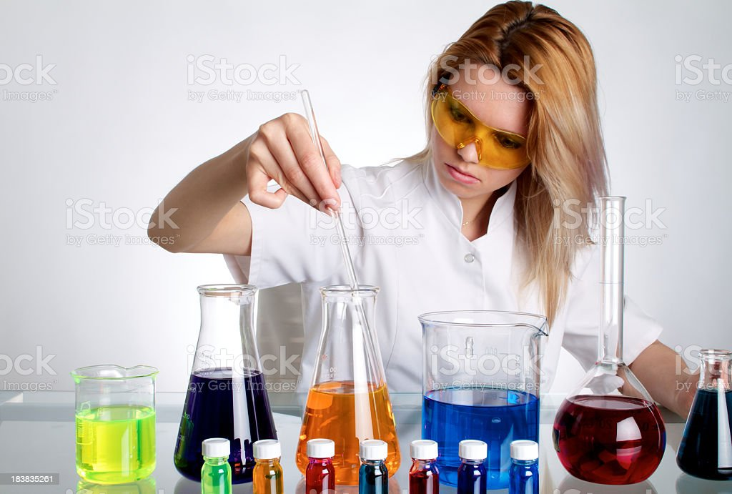 Scientist Woman Analyzing In The Lab royalty-free stock photo