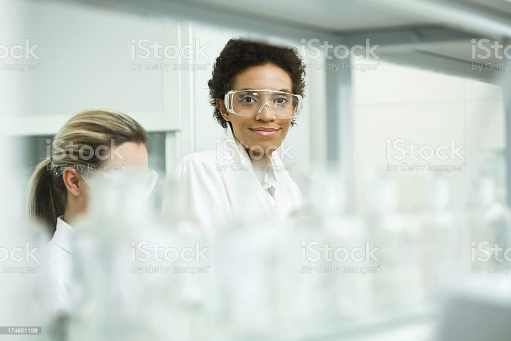 Scientist working at laboratory royalty-free stock photo