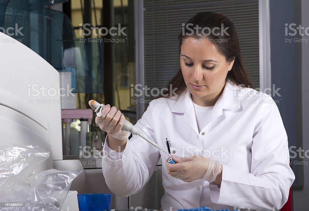 Scientist working in laboratory royalty-free stock photo