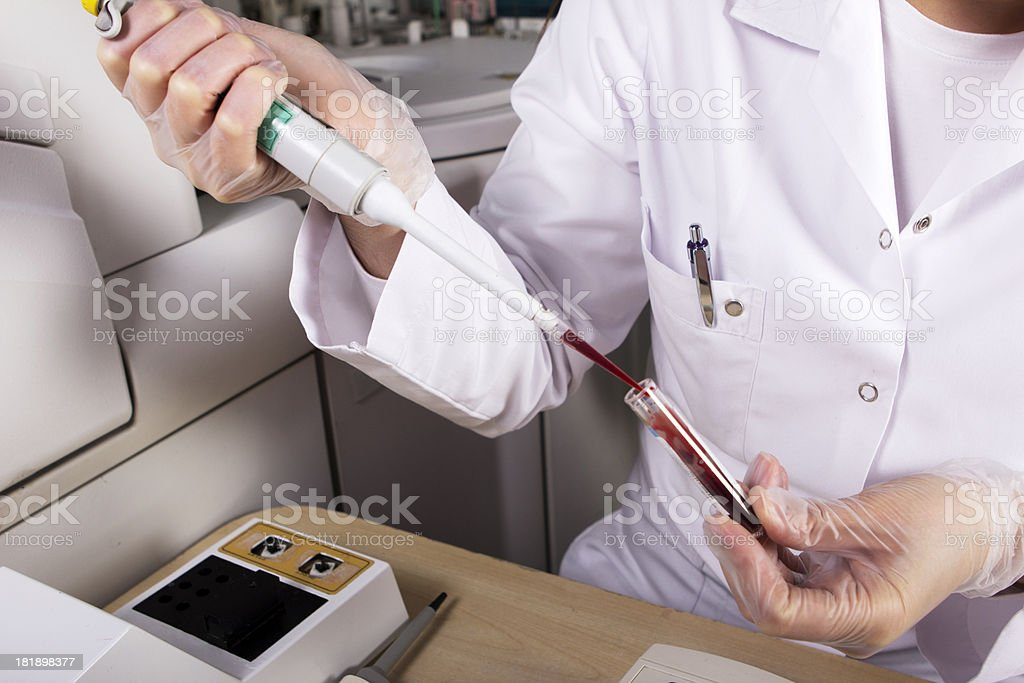 Scientist working in laboratory stock photo