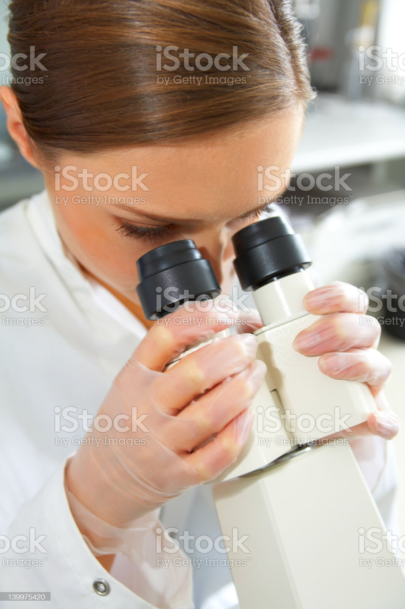 scientist working royalty-free stock photo