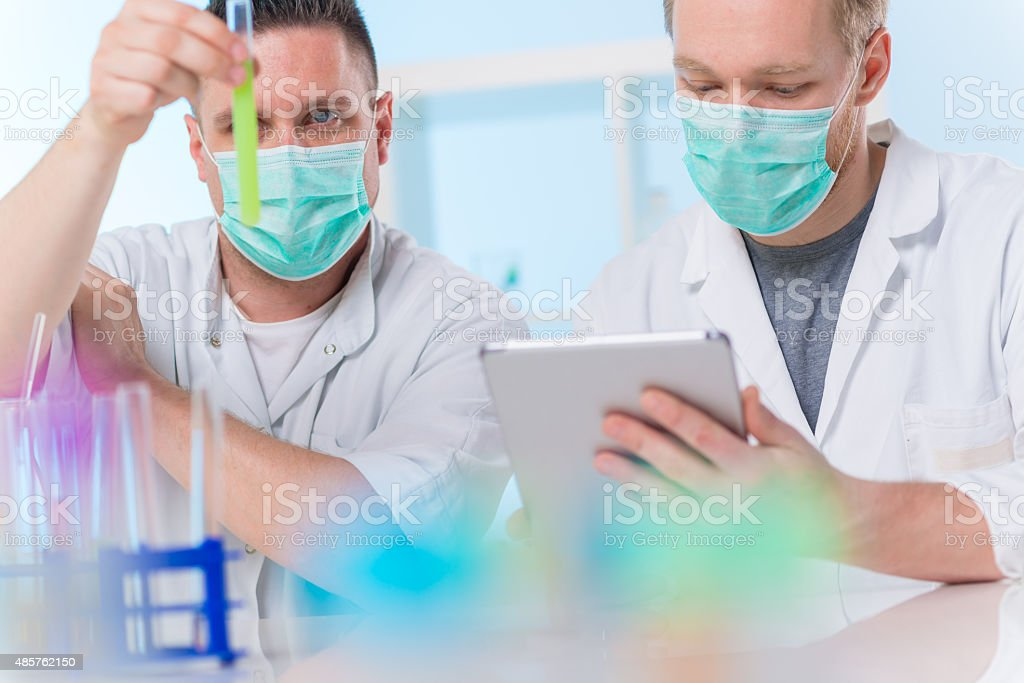 Scientists at work stock photo