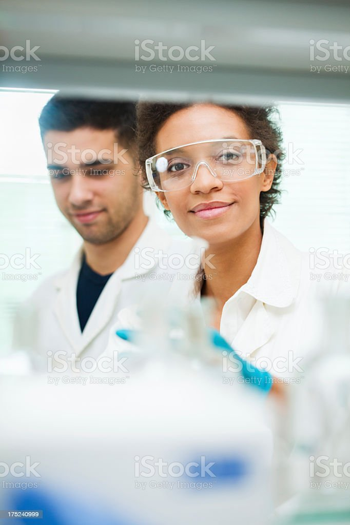 Scientists in laboratory royalty-free stock photo
