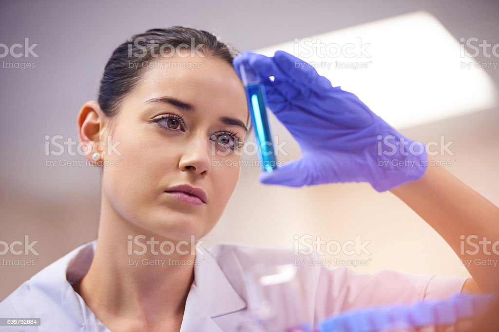 Scientists never stop questioning stock photo
