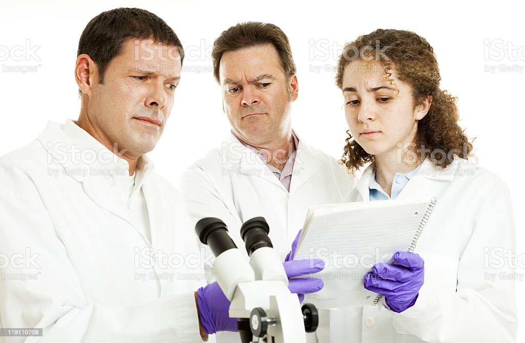 Scientists - Strange Test Results royalty-free stock photo