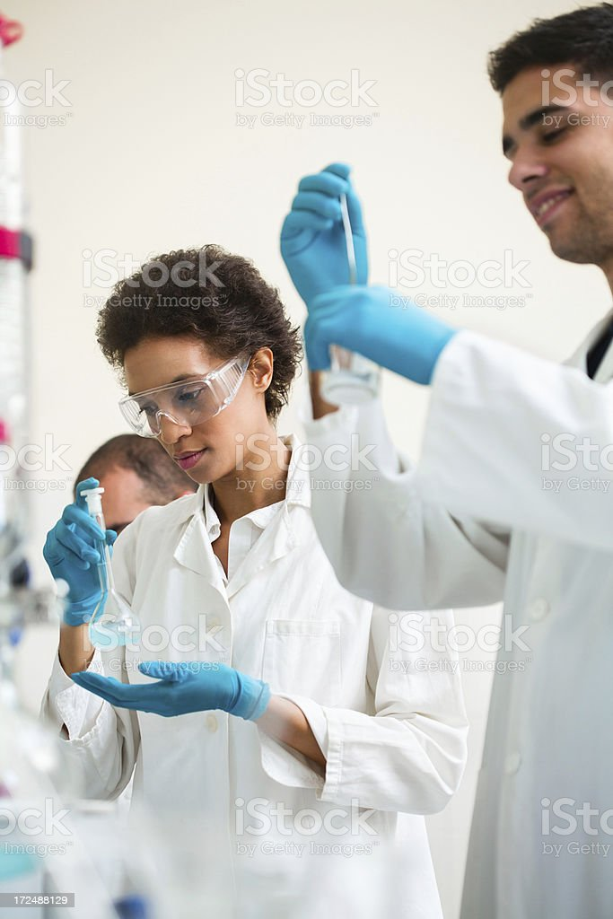 Scientists working on a project royalty-free stock photo