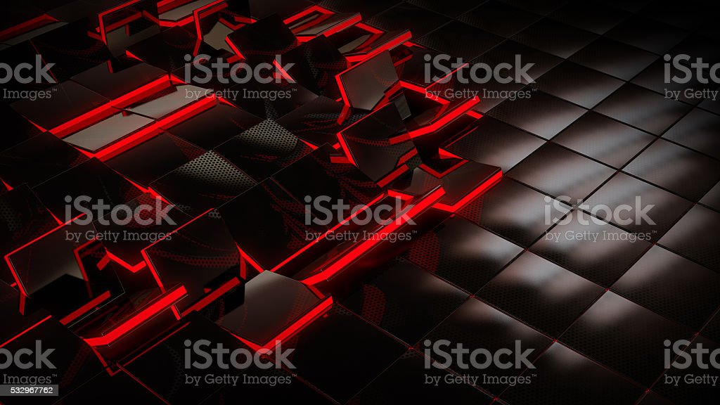SciFi floor tiles stock photo