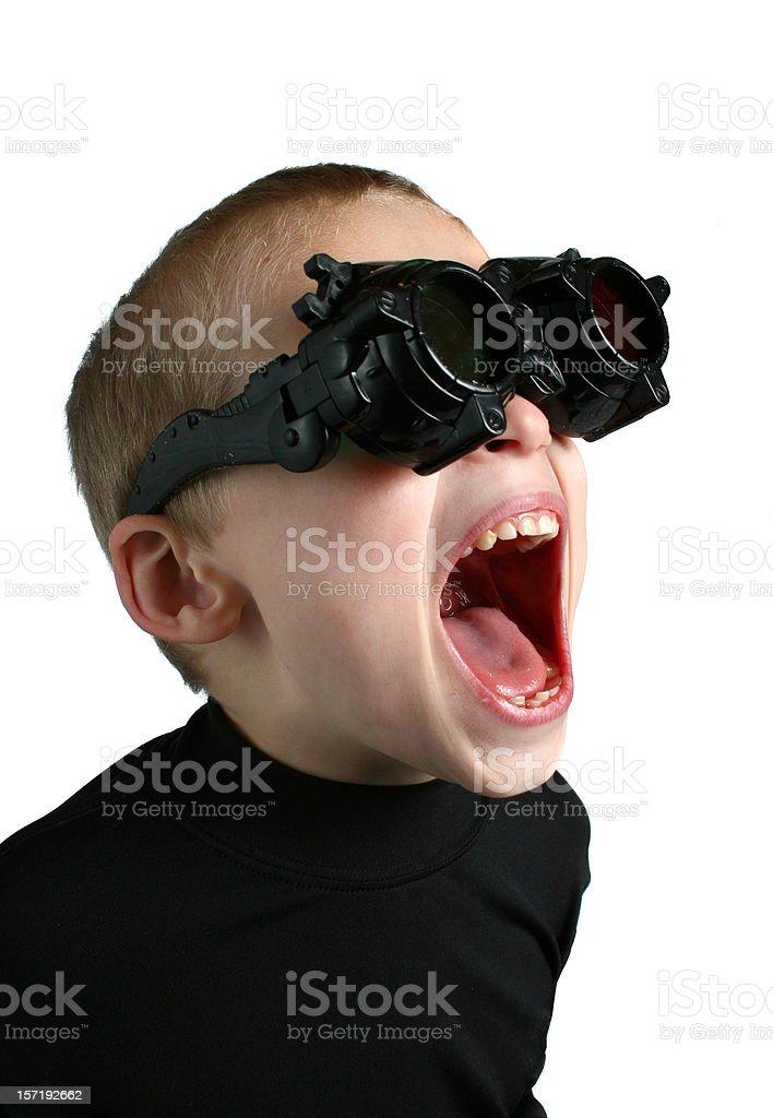 sci-fi glasses stock photo
