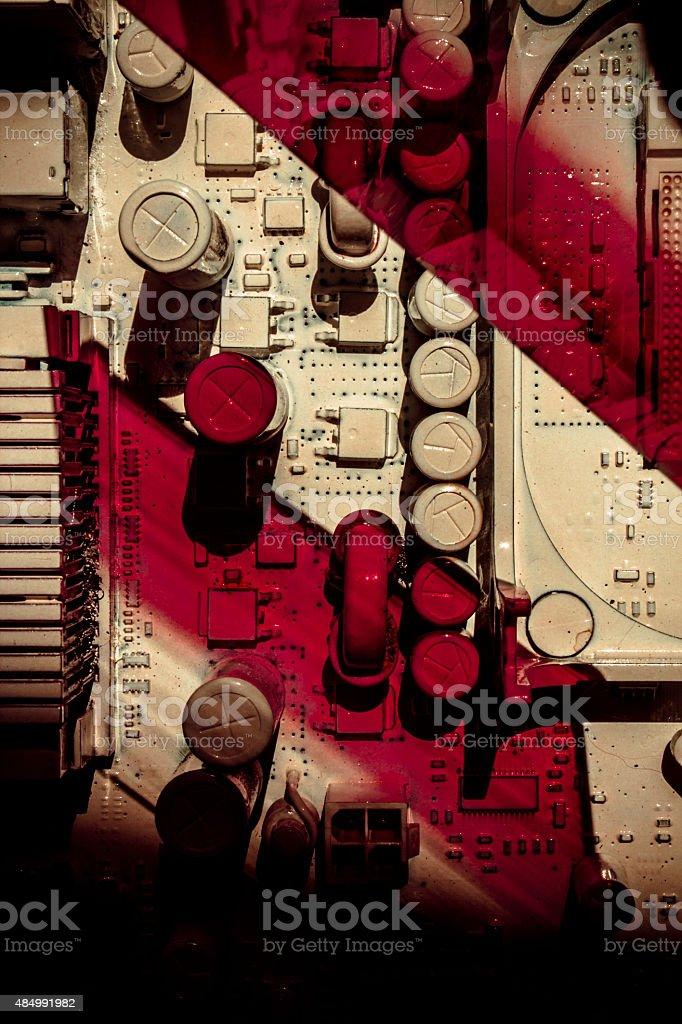 Sci-fi Motherboard stock photo