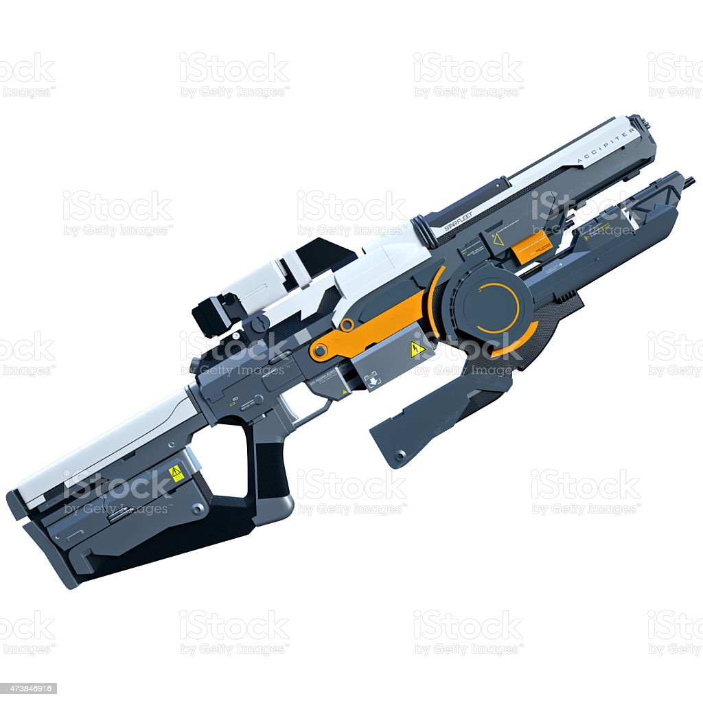 Sci-fi rifle stock photo