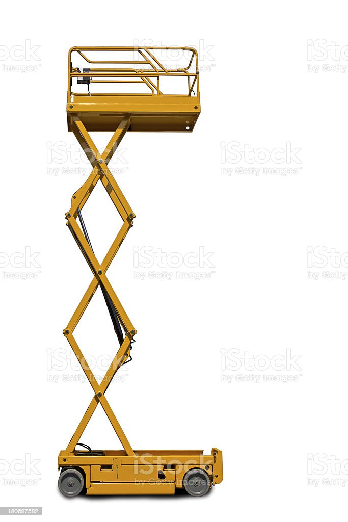 Scissor Lift Platform stock photo