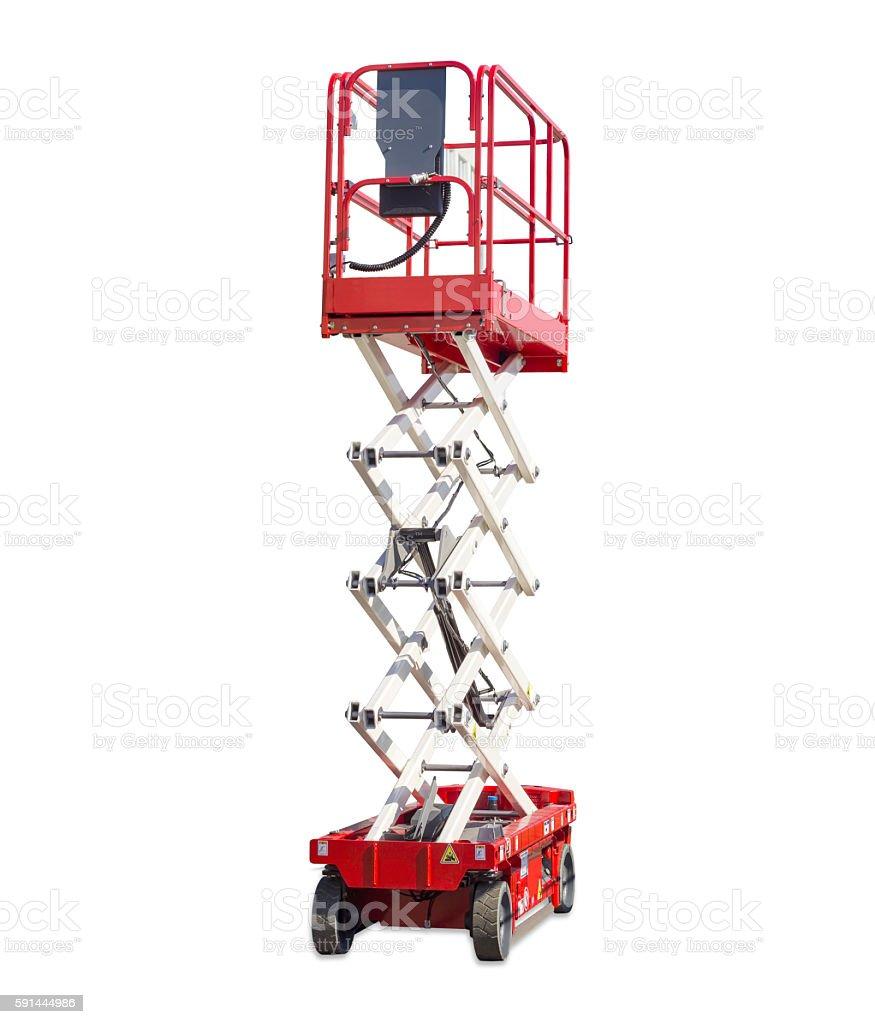 Scissor self propelled lift stock photo