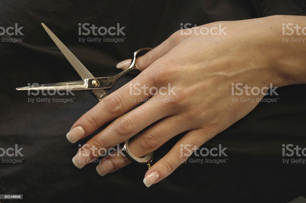 Scissorhand stock photo