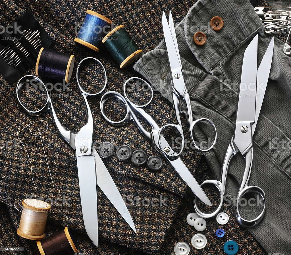 Scissors and Thread royalty-free stock photo