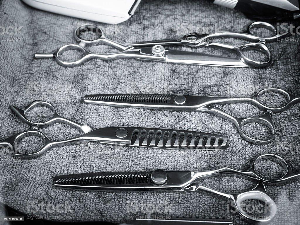 Scissors Hair Salon equipment Haircut Stylist stock photo