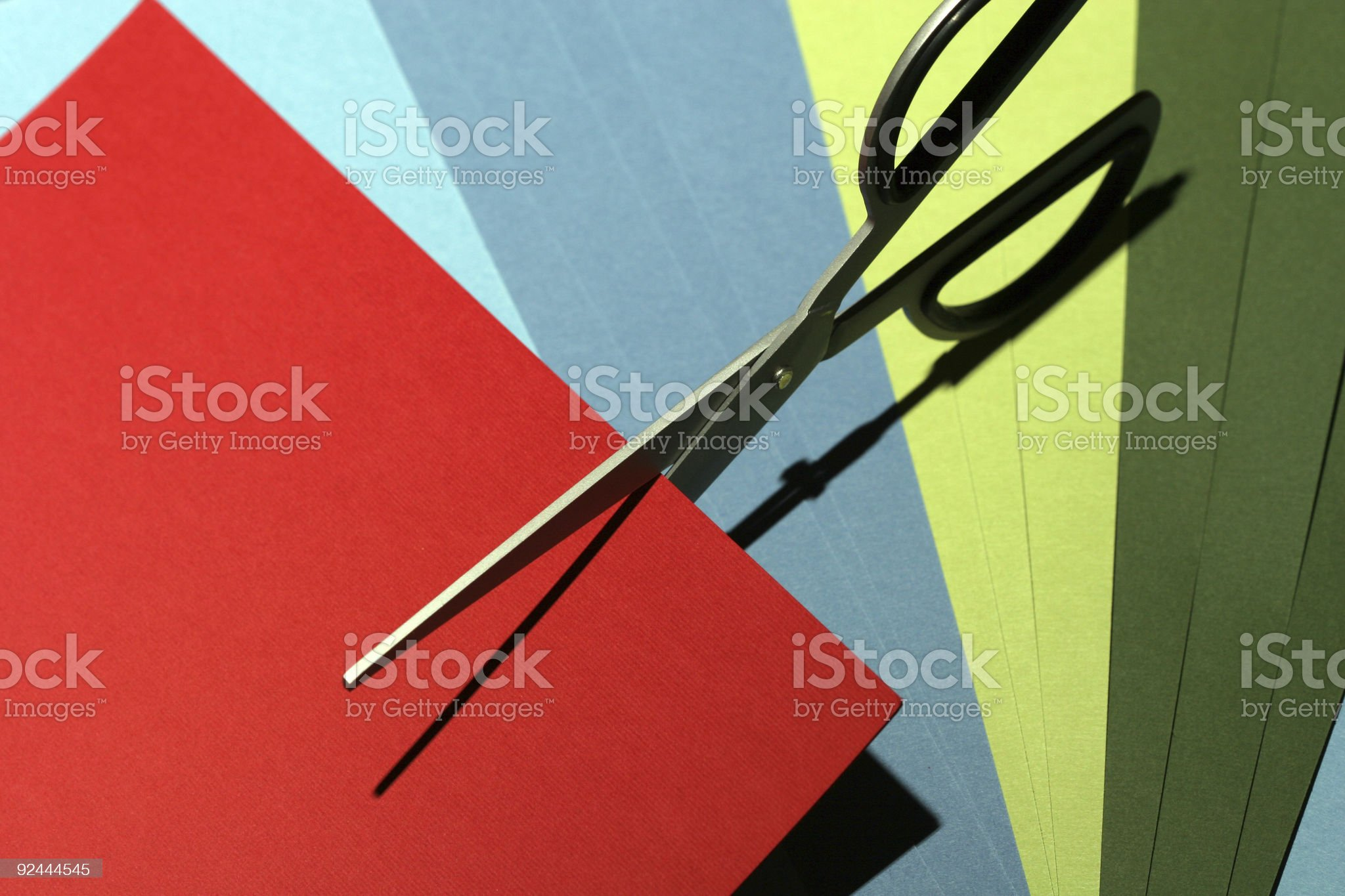 scissors on card stock royalty-free stock photo