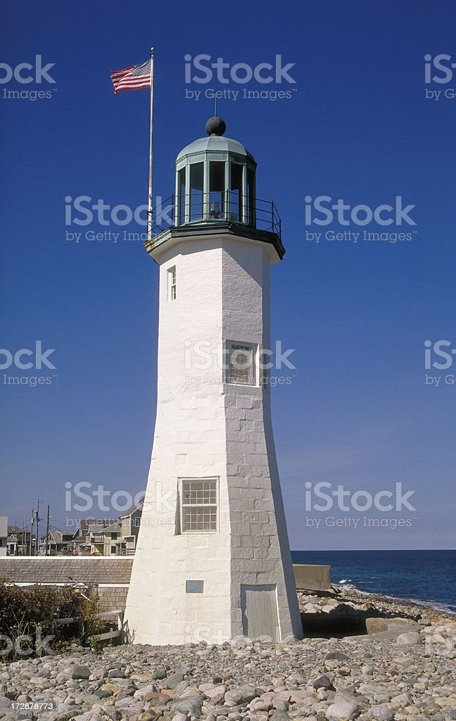 Scituate Lighthouse stock photo