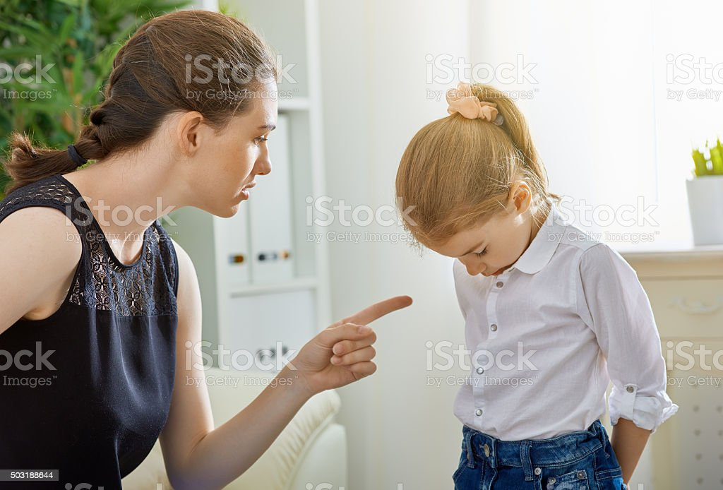 scold stock photo