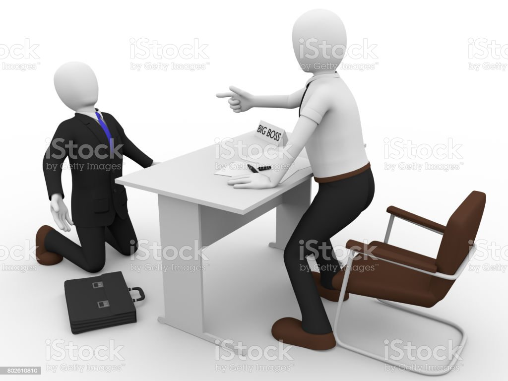 scolding boss stock photo