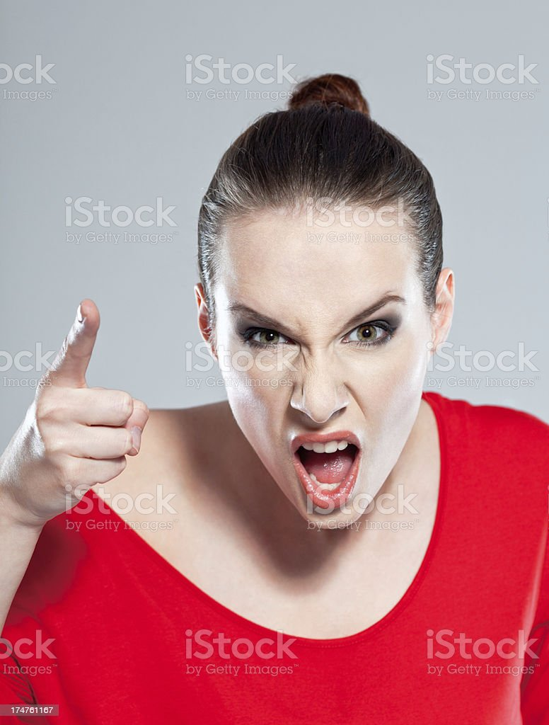 Scolding royalty-free stock photo
