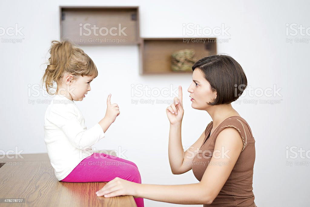 Scolding stock photo