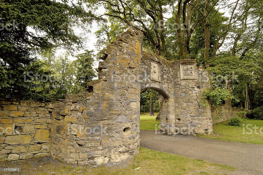 Scone Palace Gatehouse royalty-free stock photo