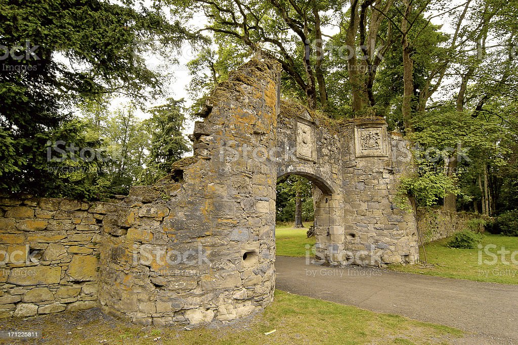 Scone Palace Gatehouse stock photo