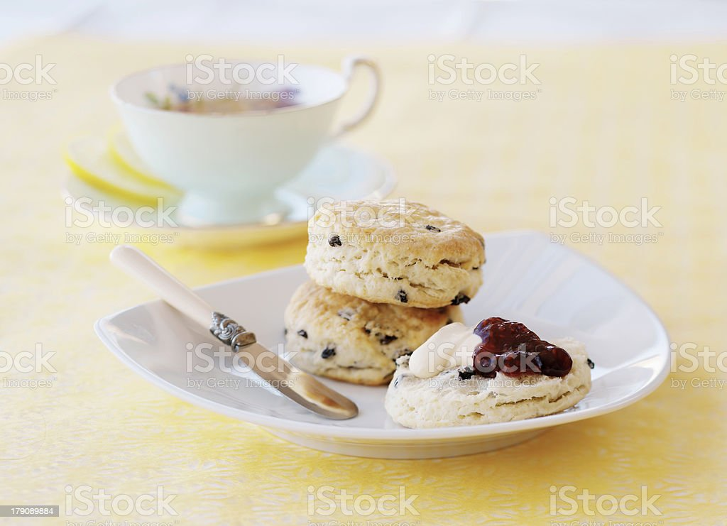 Scones and Clotted Cream royalty-free stock photo