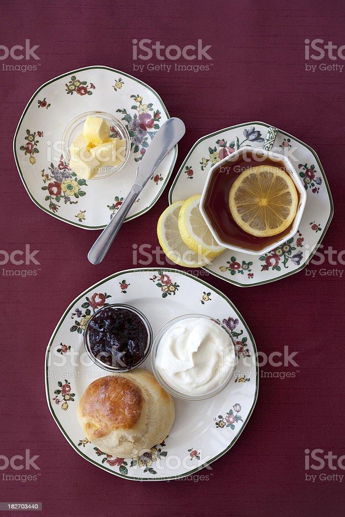 Scones and Tea royalty-free stock photo