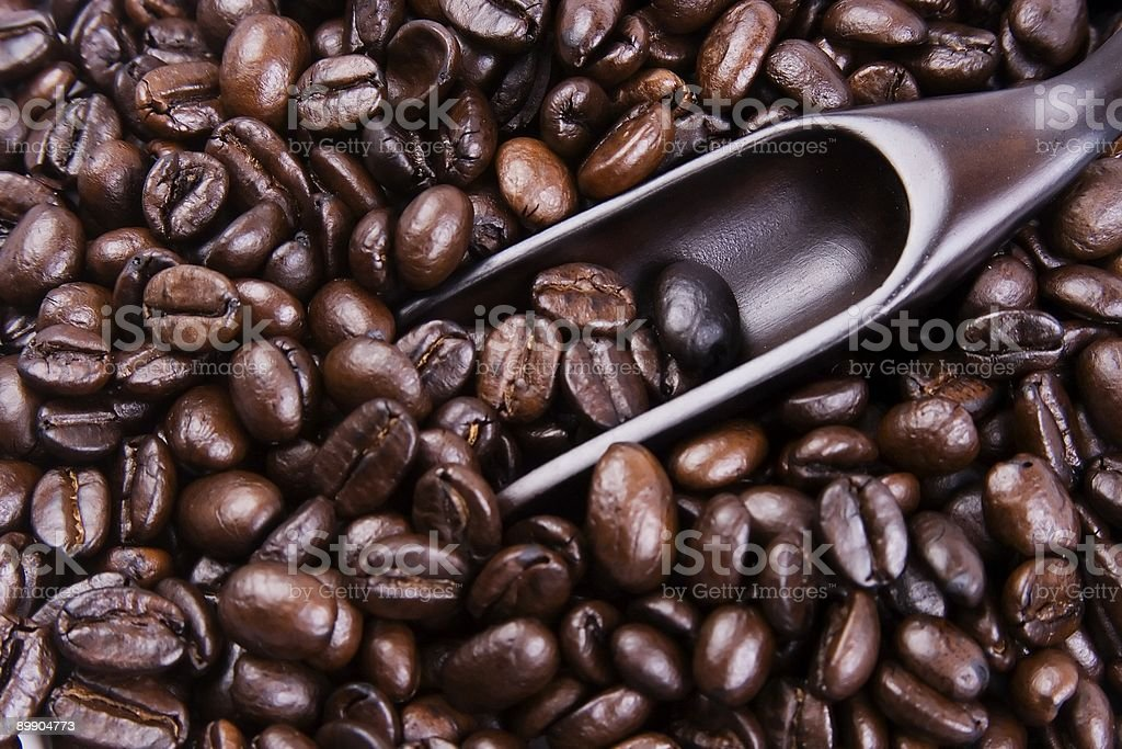 Scoop Of Coffee Bean royalty-free stock photo