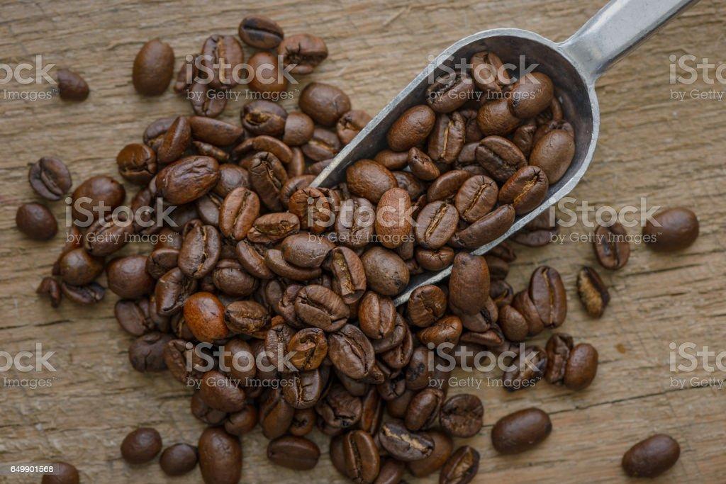 Scoop of Coffee stock photo