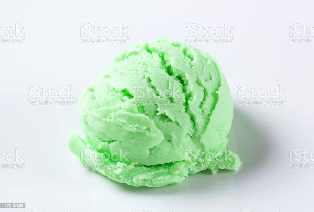 Scoop of green ice-cream royalty-free stock photo