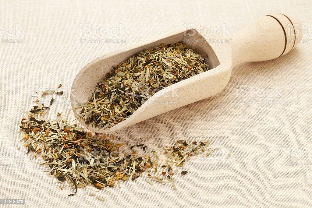 scoop of green tea royalty-free stock photo