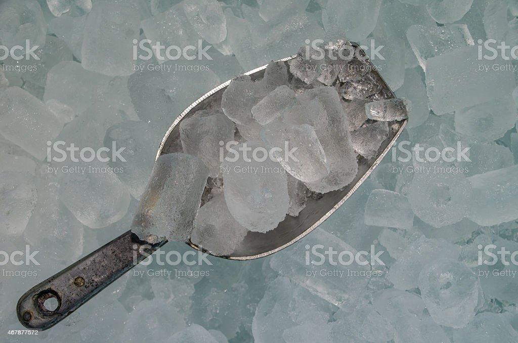 Scoop of Ice stock photo