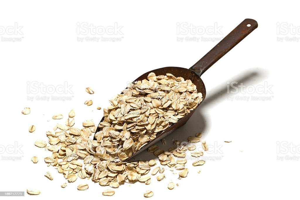 scoop of oats keep the doctors away stock photo