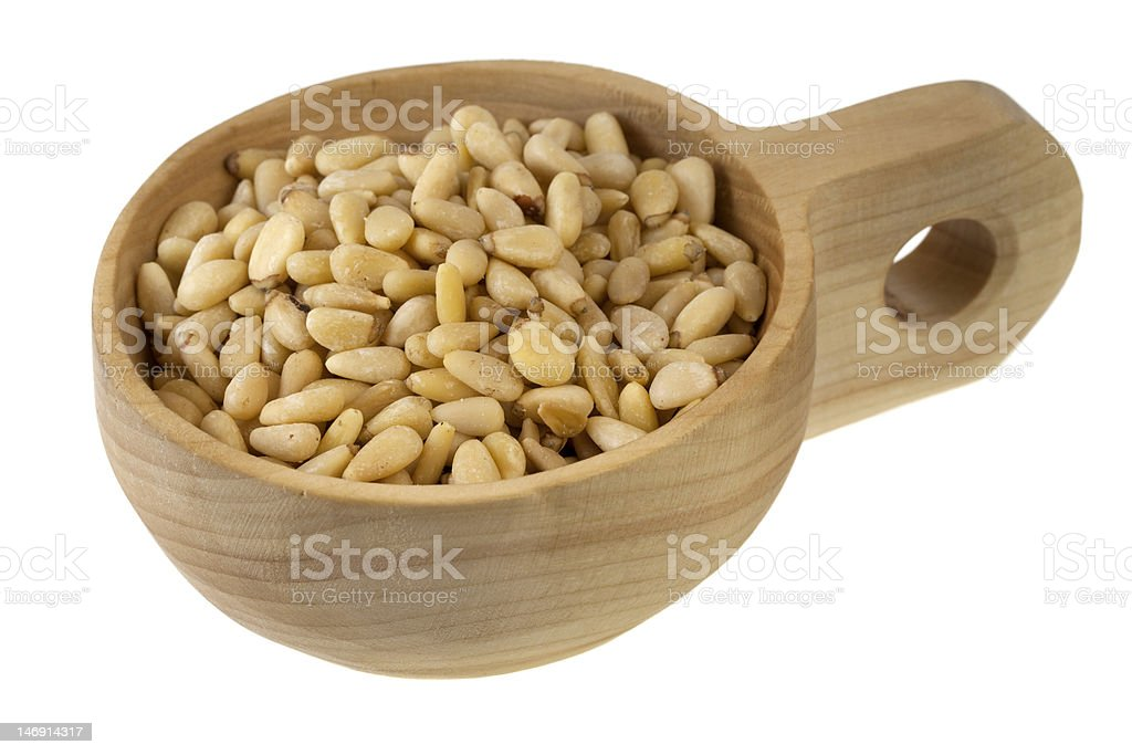 scoop of pine nuts royalty-free stock photo