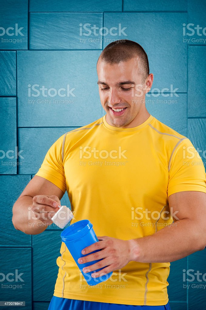 Scoop of protein royalty-free stock photo