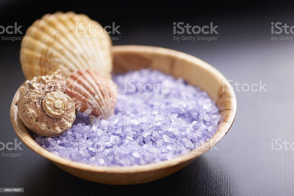 Scoop up your crystals with a seashell stock photo