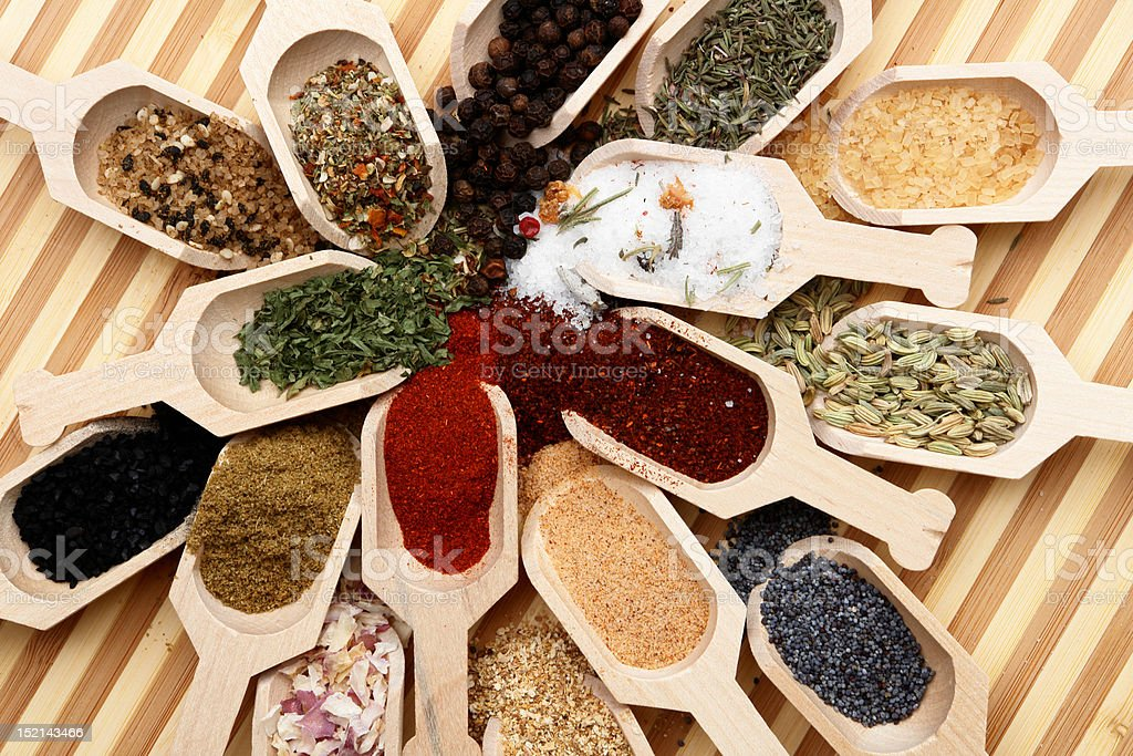 scoops and spices royalty-free stock photo