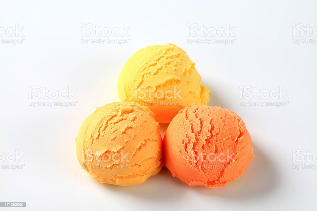 Scoops of fruit icecream royalty-free stock photo