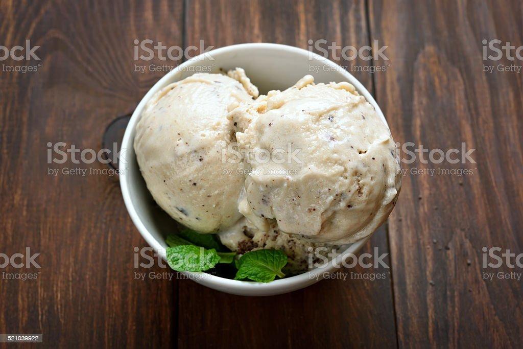 Scoops of ice cream stock photo