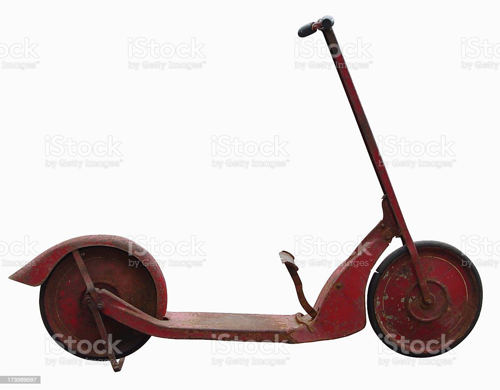 Scooter 2 with Clipping Path royalty-free stock photo