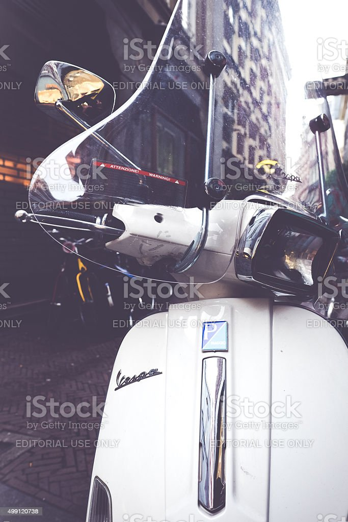 Scooter, Best way to communicate in town stock photo